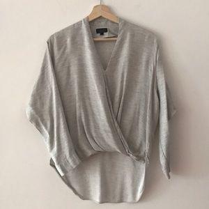 Topshop mock wrap v neck blouse 4